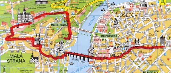 Mapa Pamatky Prahy Mapa